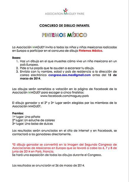 "Concurso de dibujo infantil ""Pintemos México"""